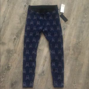 NWT Koral / soul cycle navy skull leggings